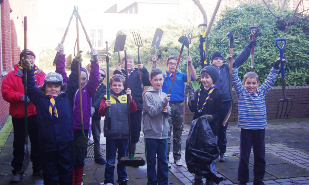 Scouts Get Environmental Group Badge