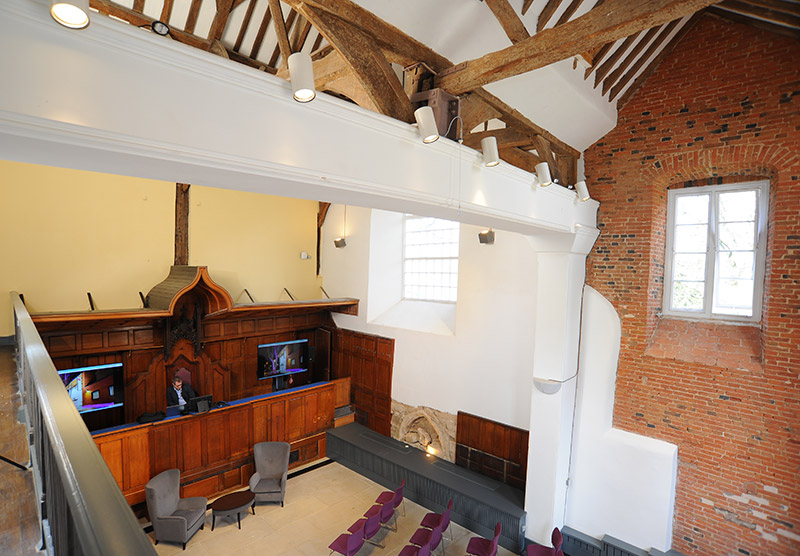 De Montfort Castle Hall Court Rooms & Exposed Beams