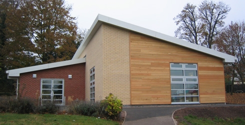 Construction of a new classroom at Burton Joyce primary school
